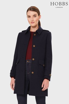 Hobbs Navy Phoebe Coat