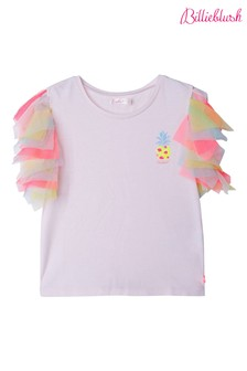 Billieblush Pink Frill Sleeve T-Shirt