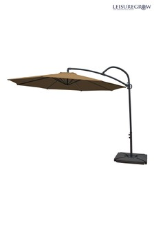 Palm 3m Taupe Cantilever Parasol By Leisuregrow