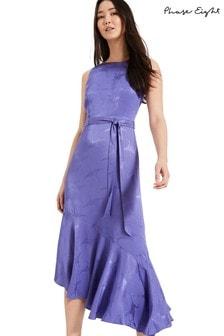 Phase Eight Blue Isabella Asymmetric Dress