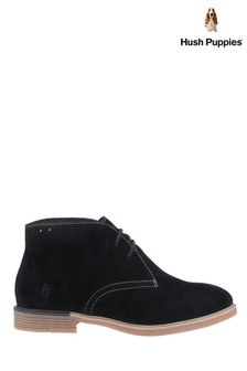 Hush Puppies Black Bailey Bounce Chukka Boots