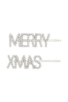 Crystal Merry Xmas Hairslides Two Pack