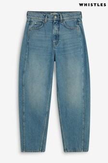 Whistles High Waist Soft Barrel Leg Jeans