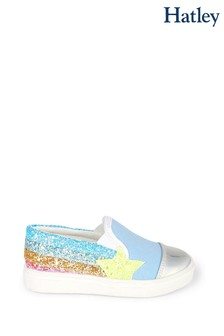 Hatley Blue Shooting Star Slip On Trainers