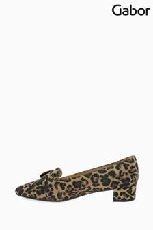 Gabor Leopard Predict Print Suede Court Shoes