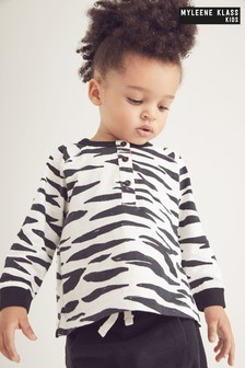 Myleene Klass Baby Zebra Top And Jogger Set