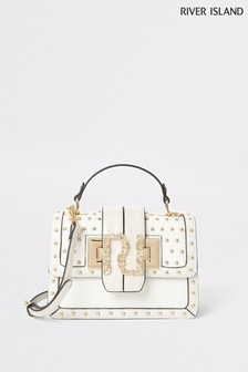 River Island Bone Satchel With New Branding Bag