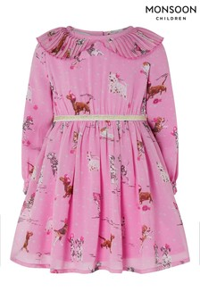 Monsoon Children Pink Baby Pippa Pooch Dress