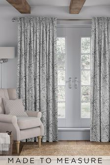 Silver Grey Albion Made To Measure Curtains