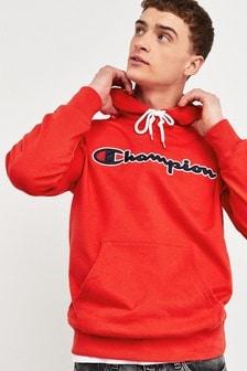 Champion Large Script Logo Hooded Sweatshirt