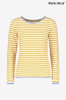 White Stuff Yellow Carly Fairtrade Jersey T-Shirt