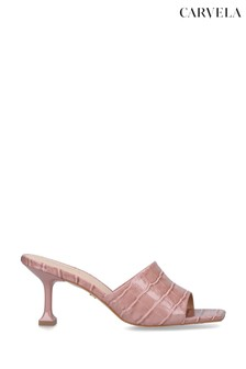 Carvela Pink Grow Heeled Mules
