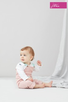Joules Pink Marci Knitted Dungaree Set