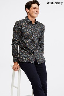 White Stuff Blue Eastern Floral Print Shirt