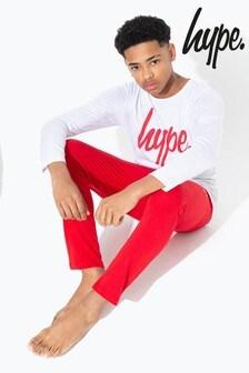 Hype. Grey With Red Script Kids Pyjama Set