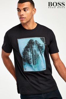 BOSS Tip Off Forest Photo Print T-Shirt