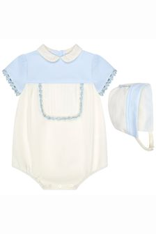 Miranda Baby Unisex Cream Cotton Romper Set