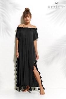 Watercult Off The Shoulder Tassel Dress