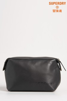 Superdry Vermont Leather Wash Bag