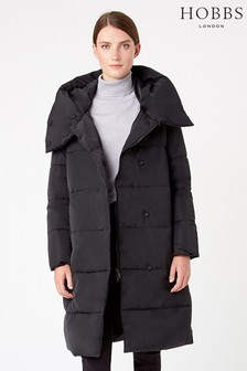 Hobbs Black Heather Padded Coat