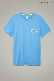 Jack Wills Pale Blue Mallett Graphic T-Shirt