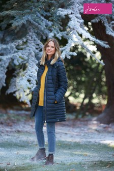 Joules Blue Canterbury Long Luxe Padded Jacket