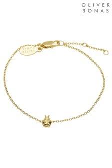 Oliver Bonas Gold Plated Ladybird Bracelet
