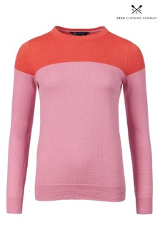 Crew Clothing Pink Foxy Crew Neck Jumper