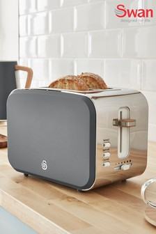 Nordic Grey 2 Slot Toaster by Swan