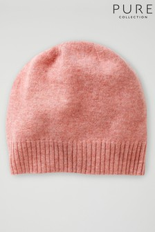 Pure Collection Pink Cashmere Hat