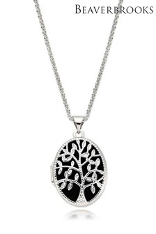Beaverbrooks Silver Tree Locket Pendant