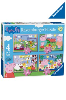 Ravensburger Peppa Pig™ 4 in a Box 12, 16, 20, 24 Piece Jigsaws