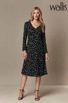 Wallis Blue Polka Dot Midi Dress