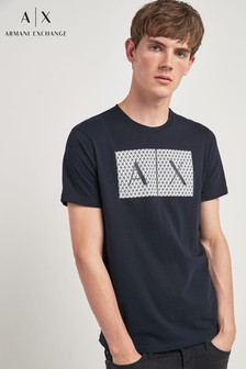 Armani Exchange Navy AX Logo T-Shirt