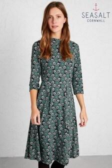 Seasalt Petite Green Carn Morval Dress