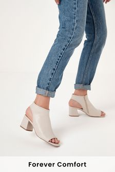 Block Heel Slingback Shoe Boots