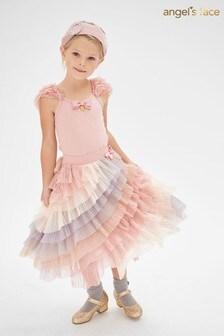 Angel's Face Rainbow Tiered Ruffle Jazz Skirt