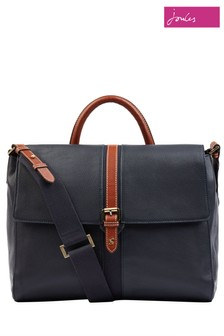 Joules Banbury Carriage Leather Satchel