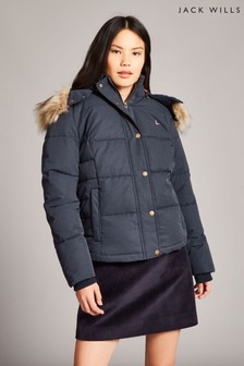 Jack Wills Navy Keswick Padded Jacket