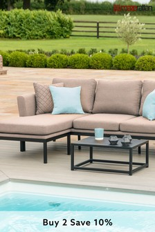 Pulse Taupe Chaise Sofa Set by Maze Rattan