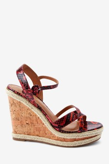 High Cork Detail Wedges