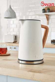 Nordic White Cordless Kettle by Swan