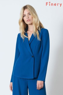 Finery London Blue Meryl Button Jacket In Slate