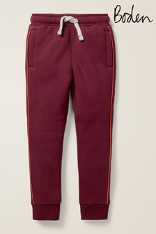 Boden Purple Shaggy-Lined Joggers
