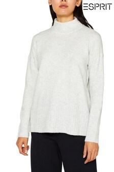 Esprit Grey Cozy Turtle Neck Sweater