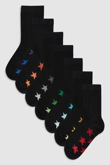 Набор носков со звездами (7 пар) (Подростки)