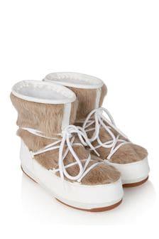 Girls White Faux Fur Snow Boots