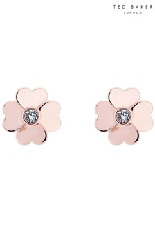 Ted Baker Metallic Hamzi Heart Flower Stud Earrings