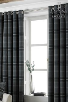 Aviemore Plaid Check Pencil Pleat Curtains by Riva Home