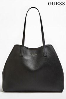 Guess Black Vikki Large Tote Bag